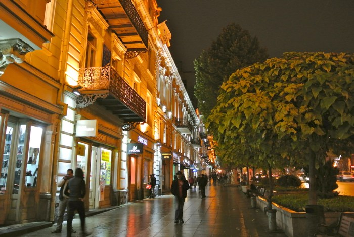 Rustaveli Avenue at Night photo via Depositphotos.com