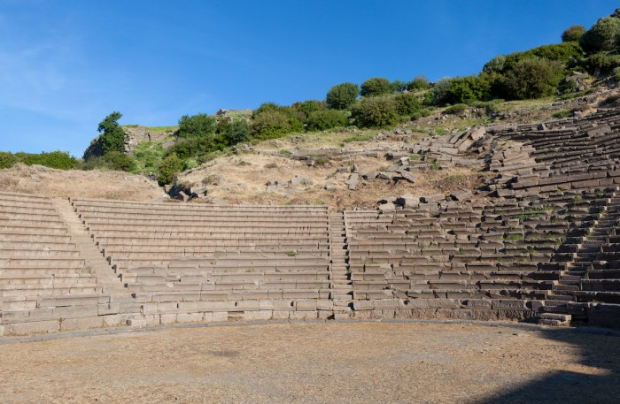 Amphitheater in Troy Turkey. via Depositphotos