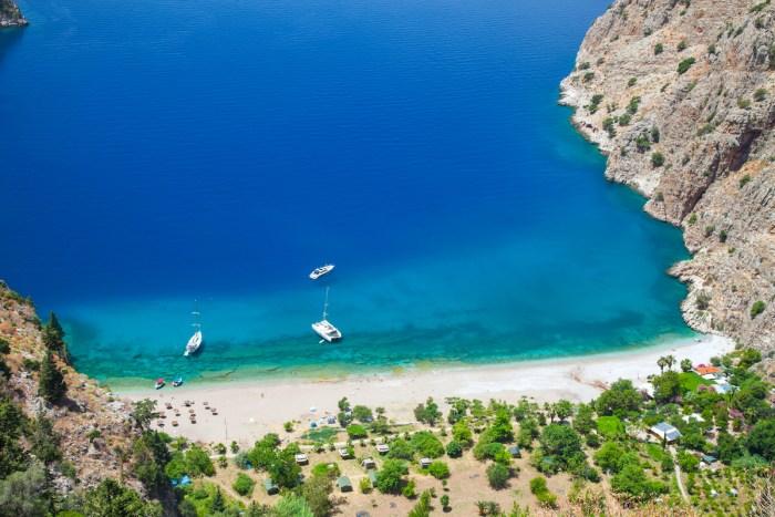 Butterfly Valley in Oludeniz, Turkey photo via Depositphotos
