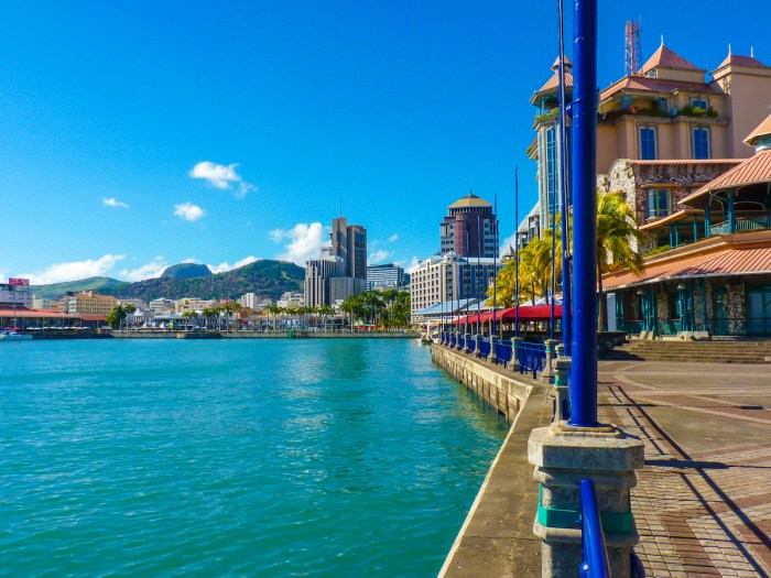 Caudan Waterfront In Port Louis photo via Depositphotos