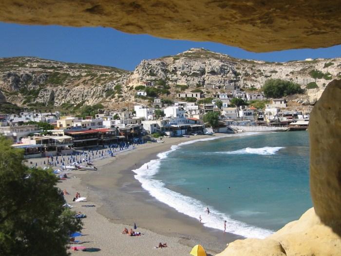 Matala Beach photo via Wikipedia Commons