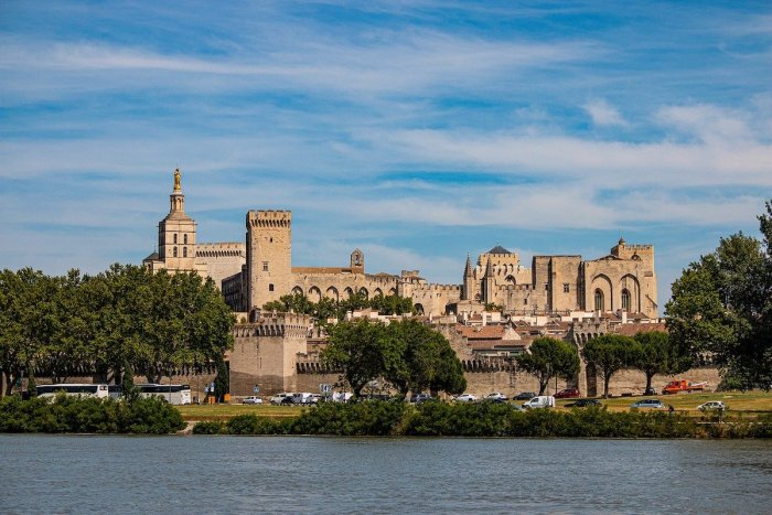 The Palais des Papes is a historical palace located in Avignon, Southern France.
