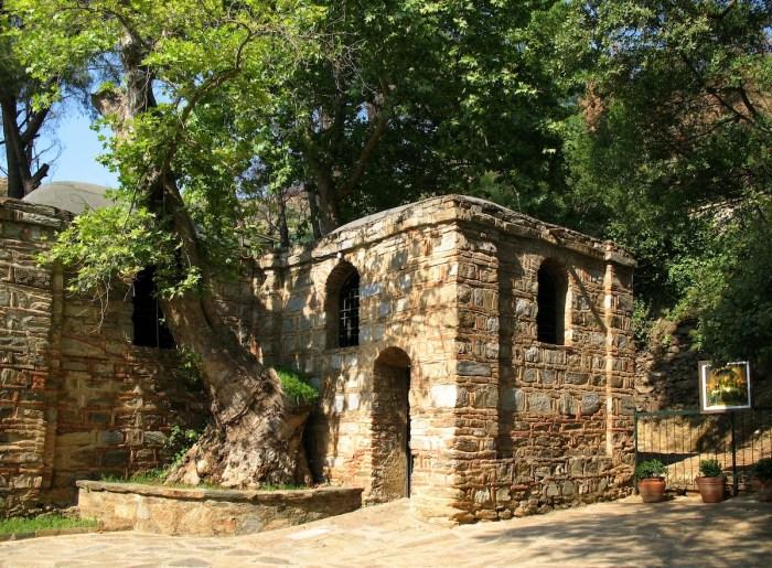 The House of the Virgin Mary in Ephesus Turkey photo via Depositphotos