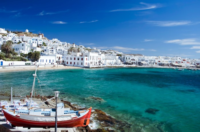 Beautiful Mykonos photo via Depositphotos