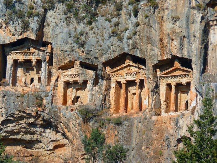 Carian Rock Tombs in Marmaris