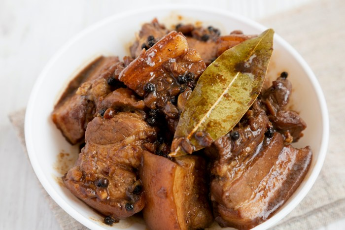 Classic Filipino Pork Adobo Recipe photo via Depositphotos