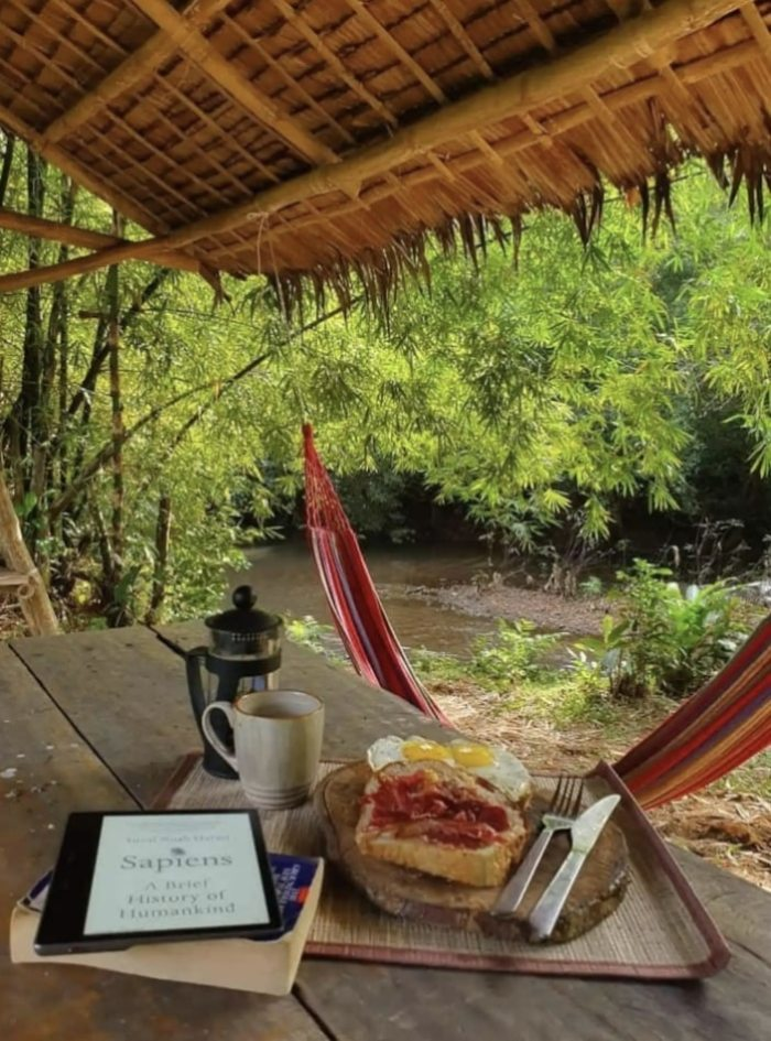 Home.fit Hacienda-Paragua-breakfast-by-the-river 10 Most Beautiful Airbnbs in Coron Palawan