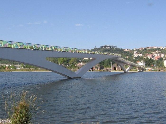 Pedro e Ines pedestrian bridge by CorreiaPM via Wikipedia CC