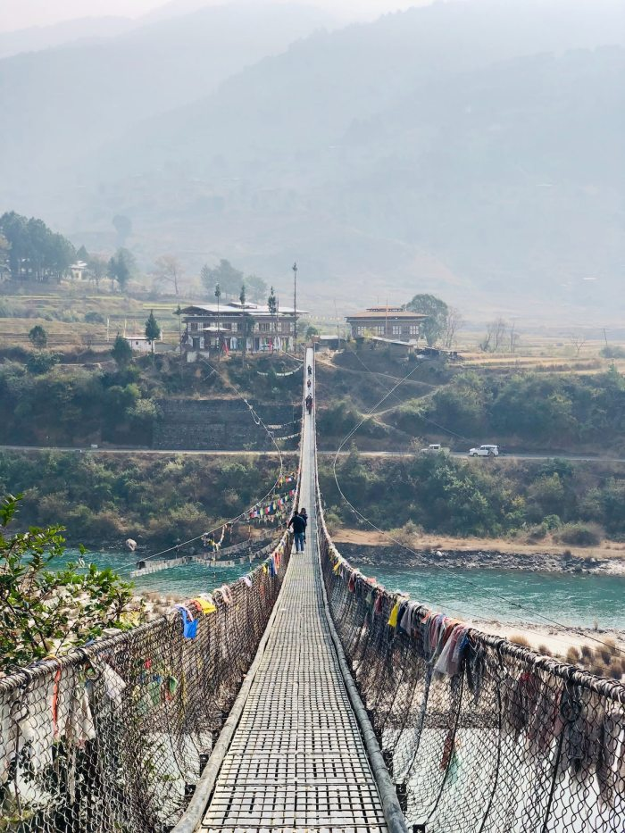 Suspension Bridge in Bhutan by Jaanam Haleem via Unsplash