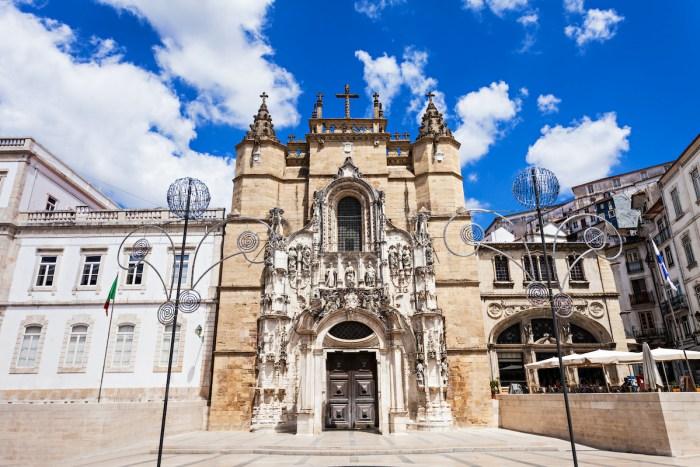 The Santa Cruz Monastery in Coimbra photo via Depositphotos