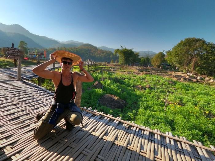 Pie bamboo bridge in Thailand