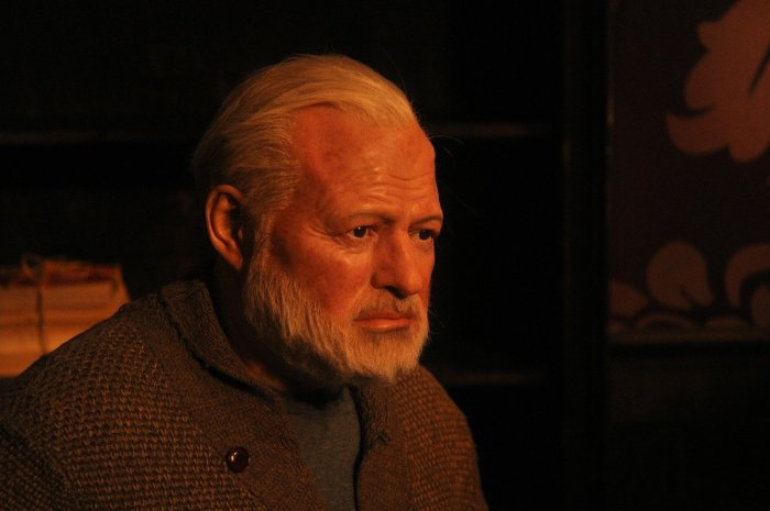 Ernest Hemingway Wax Figure at Madame Tussauds New York