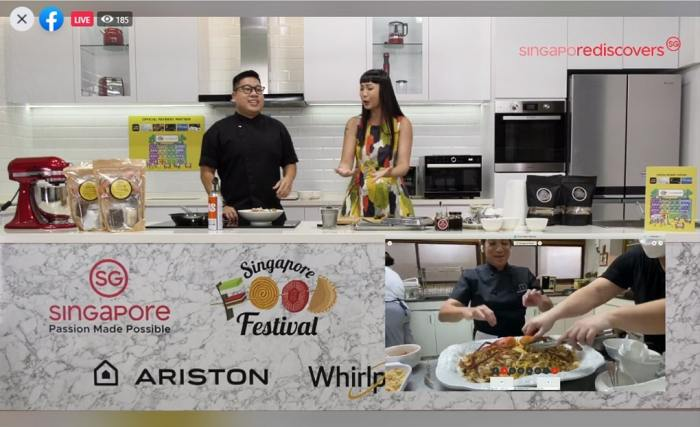 "Chef Ming Tan and Chef Margarita Forés brought Singapore and the Philippines together during their online Singapore Food Festival 2020 masterclass ""2Fast, @Delicious, Hokks and Clay"", where they prepared Hokkien Mee and Claypot Rice."