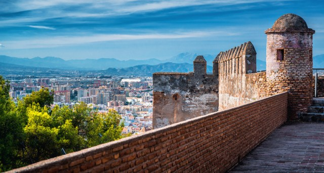 Malaga Cityscape from Alcazaba photo via Depositphotos