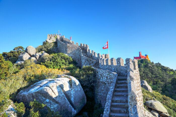 Sintra, Portugal, Scenic Castle of the Moors via Depositphotos