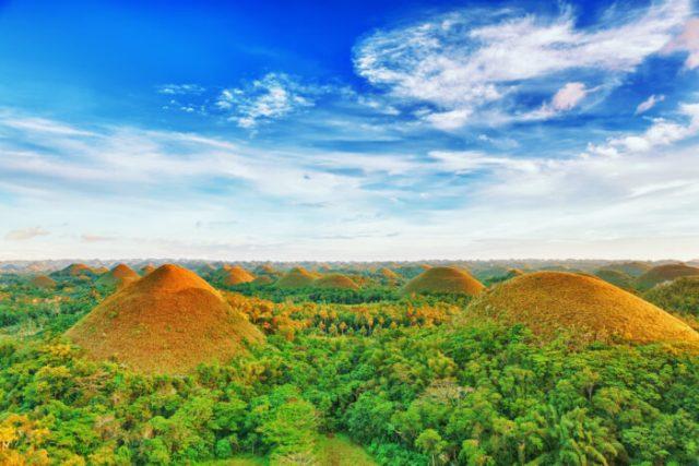 Chocolate Hills in Bohol photo via Depositphotos