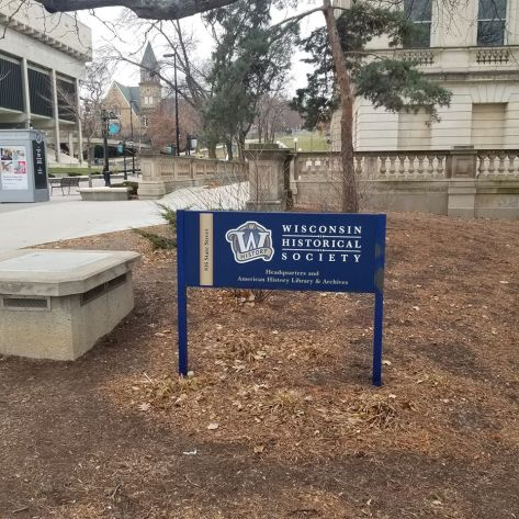 Wisconsin State Historical Society Sign