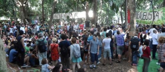 Mobilização de longa data: festa popular no Parque Augusta, em dezembro de 2013