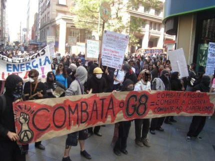 Protestos em 2000 contra o G8