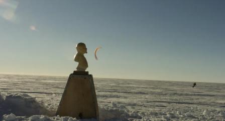 busto de Lenin no meio da Antártida