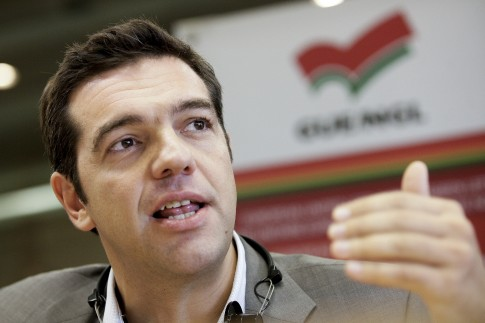 Alexis Tsipras, do partido grego Syriza, integrante da Esquerda Europeia. Depois de vencer eleições do fim-de-semana em seu país, ele prepara-se para disputar governo