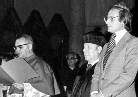 Dom Paulo (à esquerda), com o pastor Jaime Wright e o rabino Henry Sobel -inspiração para hoje