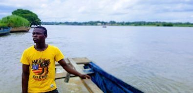 crossing the Buruku river, benue state