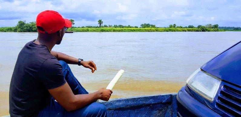 crossing the Buruku river.
