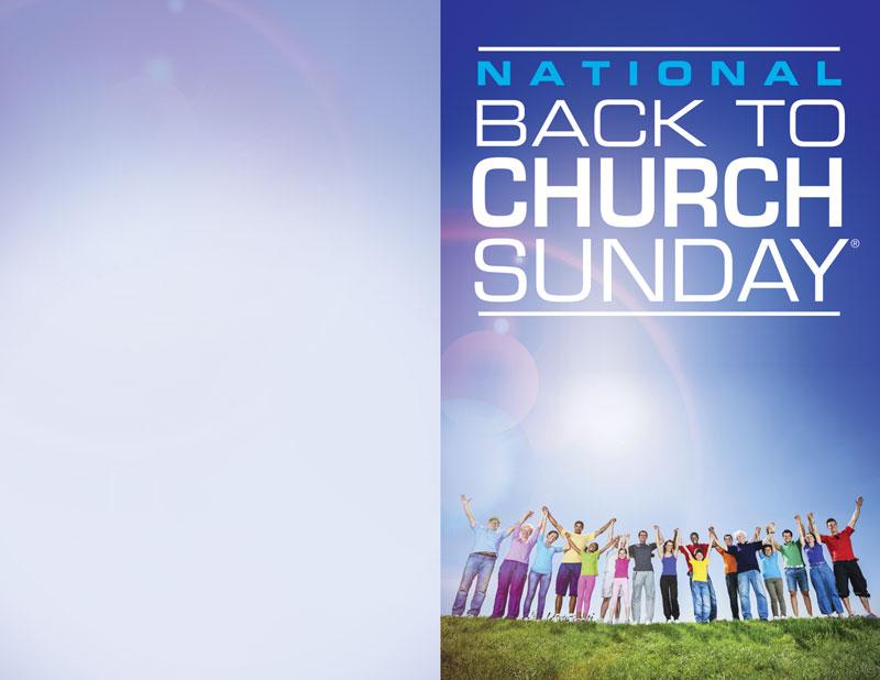 Back To Church Sunday 2013 Bulletin Church Bulletins