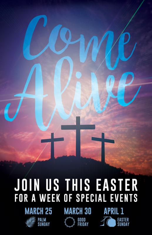 Come Alive Easter Journey Invitecard  Church Invitations
