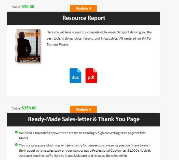 Internet Marketing For Business People Complete Sales Funnel Plr