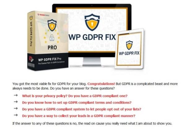 WP GDPR Fix Pro Version Upgrade OTO by Cyril Gupta