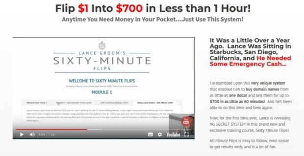 Sixty Minute Flips Flipping Domains Course | JVZOO RESEARCH