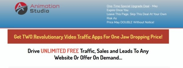 AnimationStudio 2in1 Video Traffic Maximizer Upgrade OTO by Todd Gross