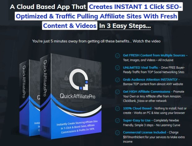 QuickAffiliatePro Software by Amit Pareek | JVZOO RESEARCH