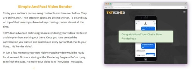 TXTVideo Text Story Videos Software by Jamie Ohler DropMock