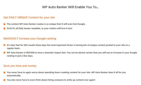WP Auto Ranker Software & OTO WSO by Dan Green