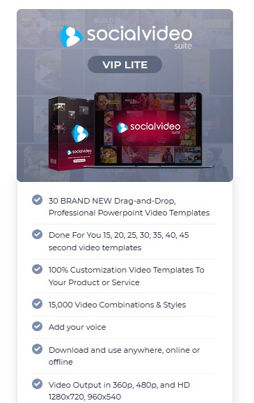 Social Video Suite VIP Edition Upgrade OTO by Brett Ingram