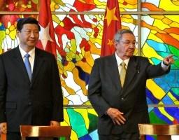 Presidente cubano recebe vice-presidente da Comissão Militar Central da China