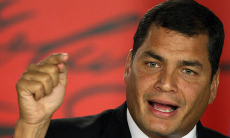 Equador: presidente Rafael Correa chama vigilância popular contra golpismo
