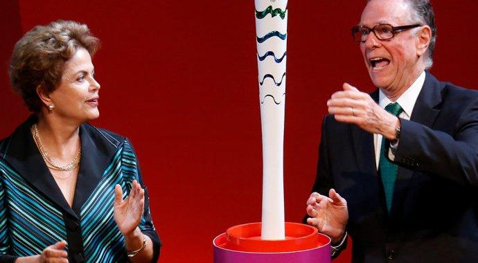 Dilma dá a partida da Tocha Olímpica