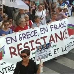 Manifestações na França apoiam Grécia diante de ameaças da UE