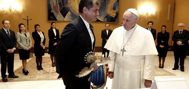Rafael Correa agradece palavras do papa