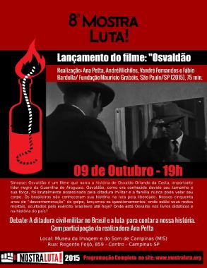 Filme sobre guerrilheiro do Araguaia Osvaldão será exibido em Campinas (SP)