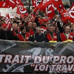 Trabalhadores franceses vão às ruas contra projeto neoliberal