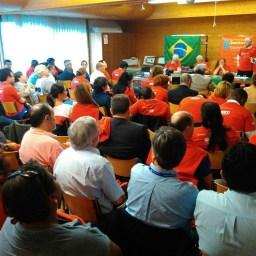 Na Conferência da OIT, centrais sindicais fazem ato contra o golpe no Brasil