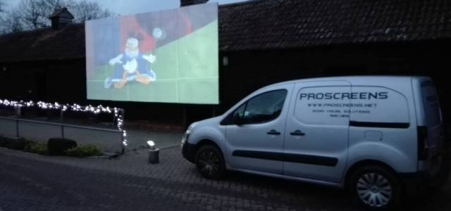 screen hire outdoors