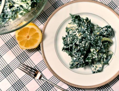 Kale Salad with Lemon Cream Dressing