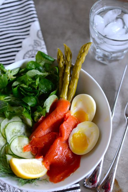 Composed Salad with Smoked Salmon