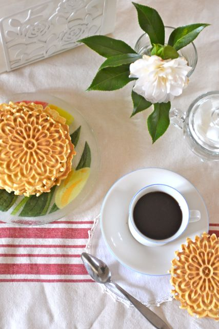 Pizzelles and Coffee